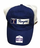 Texas Rangers MLB Womens Surrey Baseball Trucker Baseball Hat Cap Adjustable NEW