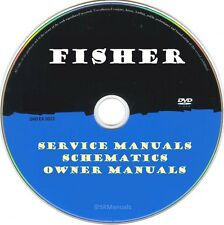 Fisher Hifi Service Manuals & Schematics- PDFs on DVD - Huge Collection
