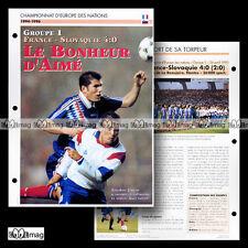 #076.07 FRANCE-SLOVAQUIE EURO 1996 (Photo : ZINEDINE ZIDANE) Fiche Football