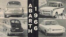 Abarth Fiat 500 595 OT850 OT1000 Coupe 1966 UK Market Foldout Sales Brochure
