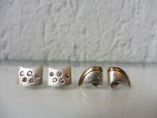 2 Paar schöne ,alte Ohrringe__Ohrstecker__Silber mit Steinen__