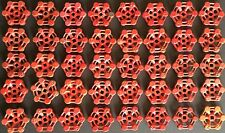 OLD VTG CAST IRON VALVE FAUCET SHUT OFF HANDLE INDUSTRIAL ORIGINAL RED LOT OF 40