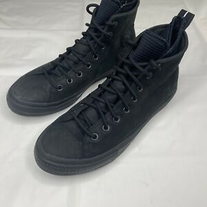 Converse Chuck Taylor Leather Waterproof Size 10 Black
