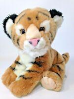"Aurora Plush Bengal Tiger Classic Baby Cub Stuffed Animal Bean Bag Toy 10"""