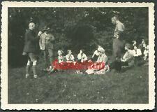 D51 Ww2 Original Photo Of German Bdm Boy Scouts Resting