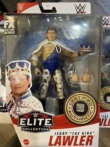 NEW WWE WWF JERRY THE KING LAWLER MATTEL ELITE SERIES 82 ACTION FIGURE IN HAND