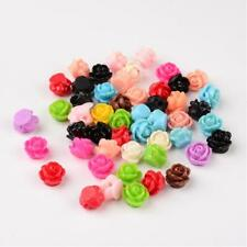 50 BULK Beads Acrylic Flower Assorted Lot 9mm Rose Wholesale Large Lot
