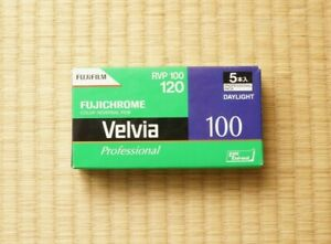 Expired (5 rolls) Fujichrome Velvia 100 Color 120 Slide Film Fujifilm Fuji