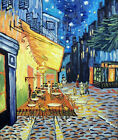 Famous Van Gogh Repro Cafe Terrace At Night Oil Painting By Hand   STRETCHED