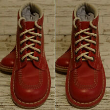 Red Leather Kickers  H Boots Size 4