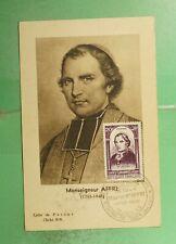DR WHO 1948 FRANCE MUSEUM SLOGAN CANCEL AFFRE MAXIMUM CARD ART PORTRAIT  g19468