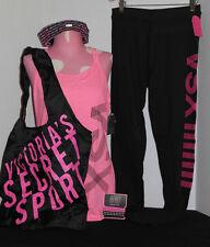 Victoria's Secret VSX Strappy Tank, Tight, Hairbands, Bag *Nw/oT* Medium *Pink*