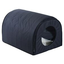 Pawhut Heated Outdoor Cat House - Black Black
