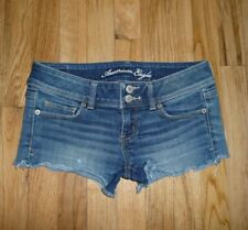 American Eagle low rise cut-off shortie short jean shorts Stretch Size 4 Womens