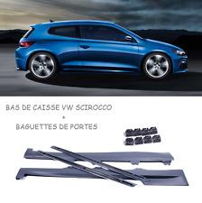 2 BAS DE CAISSE R20 + BAGUETTES DE PORTES + FIXATIONS POUR VW SCIROCCO
