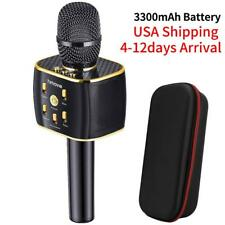 3300mAh Karaoke Microphone w/ 12w Hi-Fi Bluetooth Speaker Player for Smartphone