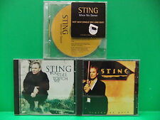 Sting PROMO CD LOT You Still Touch Me, Fields Of Gold, When We Dance, The Police