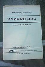 GEM Wizard 320 Electronic Organ Schematic Diagram Manual