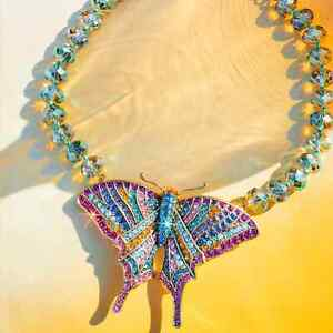 Heidi Daus Butterfly Dreams Crystal Statement Necklace