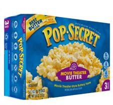 3 bag Popcorn movie Snack Foods Butter Pop Secret Microwave Snack set 272 g New