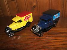 Vintage Matchbox Ford Model A Kellog's Rice Krispies 1979 & Model T Eggo 1989