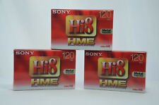 3x Sony e5-120hme3 120 PAL Hi8 & Digital 8 Video Camcorder Bänder Kassetten NEU