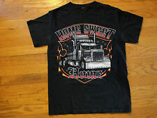Trucker Semi Tractor Trailer 18 Wheeler Home Sweet Home T Shirt Size Small