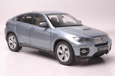BMW ActiveHybrid X6 SUV model in scale 1:18 blue