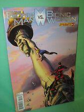 Bionic Man vs Bionic Woman #3 Jonathan Lau 1st Print Comic Dynamite Comics VF