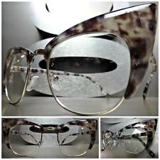 CLASSIC VINTAGE RETRO CAT EYE Style Clear Lens EYE GLASSES Gray Tortoise Frame