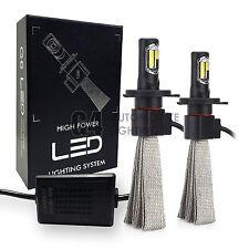 2x Fanless H4 9003 Canbus LED Headlight Kit 6000K Xenon White Bulb Super Bright