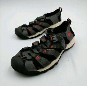 KEEN Mens Hiking Trail Walking Sandals Water Shoes Size 6 US Black/Orange