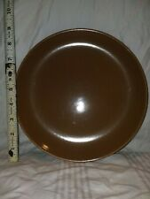 """Vintage Iroquois China Russel Wright Casual Wear Brown 9"""" Plate"""