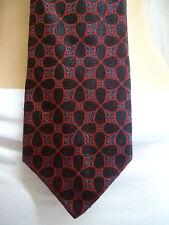Genuine Late 70's / Early 80's AQUASCUTUM Vintage Silk Tie Black Pink Navy