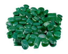 350ct / 62pcs Natural Green Emerald Faceted Loose Gemstones Wholesale Lot