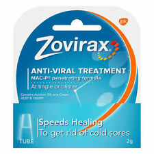 Zovirax Cold Sore Cream Tube Antiviral Treatment - 2g