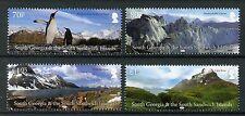 South Georgia & Sandwich Is Stamps 2017 MNH Landscapes Penguins Mountains 4v Set