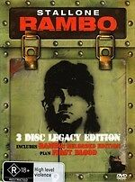 Rambo: Reloaded / First Blood (DVD, 2008, 3-Disc Set) Legacy *New* Region 4