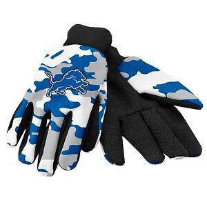 Detroit Lions Camouflage Sports Utility Gloves Work gardening NEW CAMO