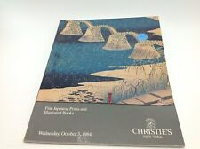 Christie's Catalog Japanese Prints Illustrated Books October 1984