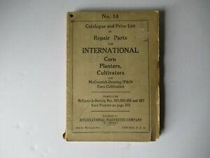 1925 International McCormick-Deering conr planters cultivators parts catalog