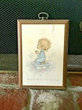 "Vintage Betsey Clark Hallmark Plaque ""Thank You For Our Many Blessings� Praying"