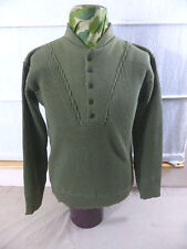 NEW - M/ US ARMY WW2 Uniform Winter Pullover OD Sweater High neck 5 button