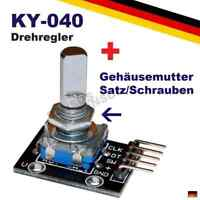 Drehregler Drehgeber Rotary Encoder Arduino KY-040 Potentiometer Poti Raspberry