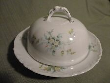 Stunning Vintage Habsburg Austria Floral China Covered Butter Dish