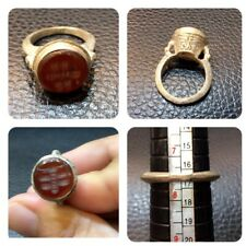 Old carnelian stone national rings handmade silver plated very beautiful rings c