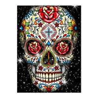 1Pcs Skull Full Drill 5D Diy Diamond Painting Skull Embroidery Cross Decor Hot