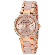 Michael Kors MK6110 Rose Gold Mini Parker Womens Watch Full Warranty