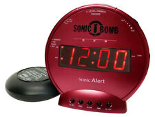 Sonic Bomb Loud Dual Alarm Clock with Vibrating Bed Shaker (Red) SBB500SSR