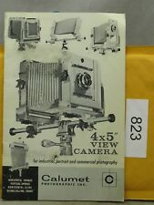 Calumet 4x5 View Camera Original Instruction Manual / Sales Brochure In English